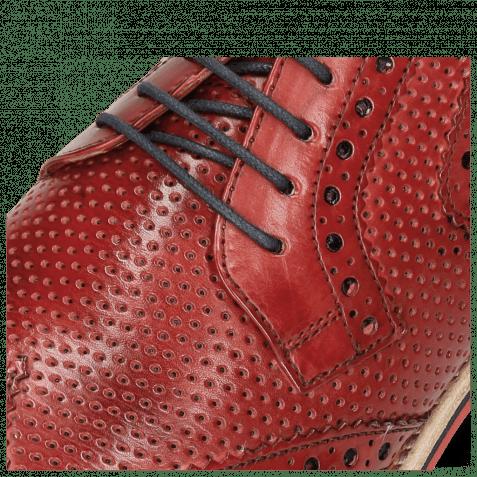 Derby Schuhe Clint 19 Perfo Ruby Lining Rich Tan