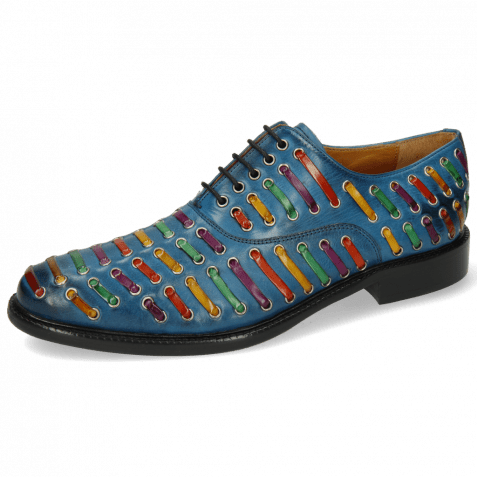 Oxford Schuhe Henry 25 Mid Blue Interlaced Multi