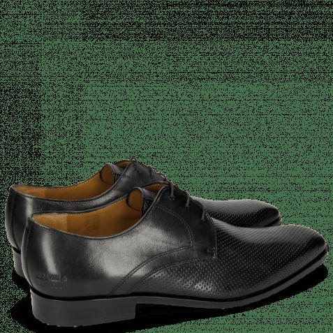 Derby Schuhe Xander 1 Rio Perfo Black