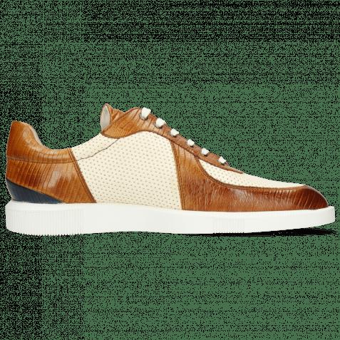 Sneakers Newton 6 Imola Guana Tan Perfo White
