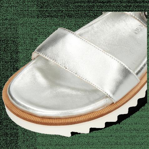 Pantoletten Helen 15 Metallic Nappa Silver