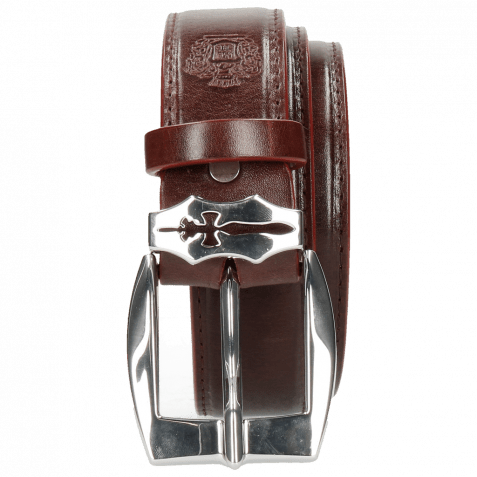 Gürtel Larry 1 Burgundy Sword Buckle