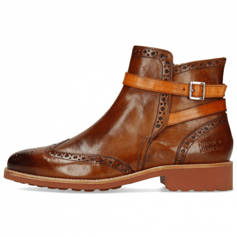 Stiefeletten Selina 25 Wood Strap Orange Lining
