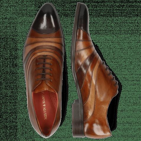 Oxford Schuhe Toni 43 Espresso Wood Tan