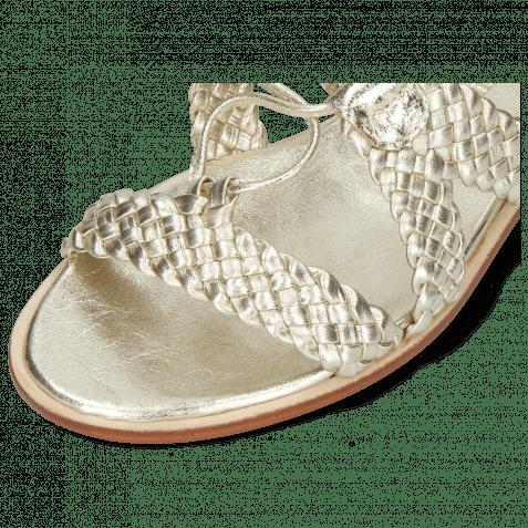 Sandalen Sandra 11 Woven Nappa Platin Footbed