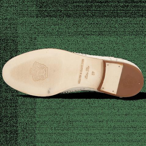 Derby Schuhe Sandy 1 Nappa Glove Perfo Ivory