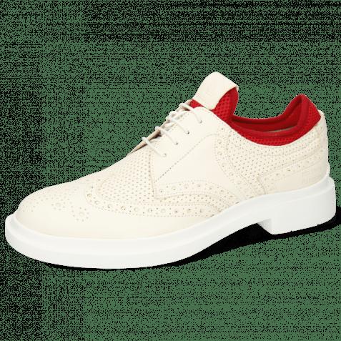Derby Schuhe Ron 2 Perfo White Flex