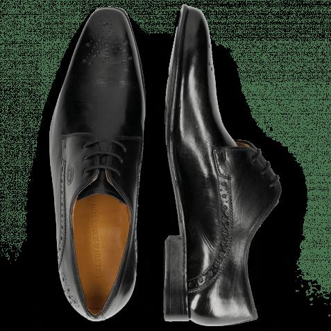 Derby Schuhe Kris 2 Black Lining Rich Tan