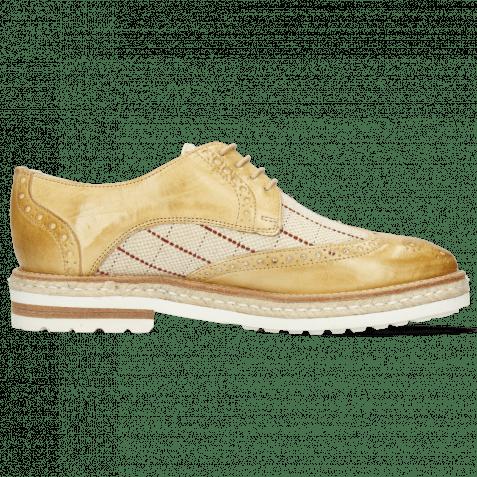 Derby Schuhe Amelie 3 Imola Beige Line Natural
