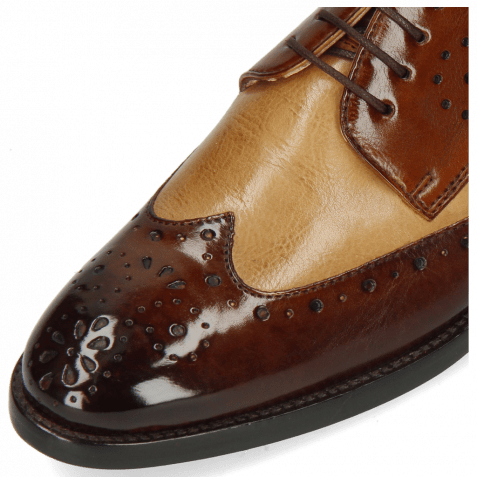 Derby Schuhe Betty 3 Imola Mid Brown Sand Wood