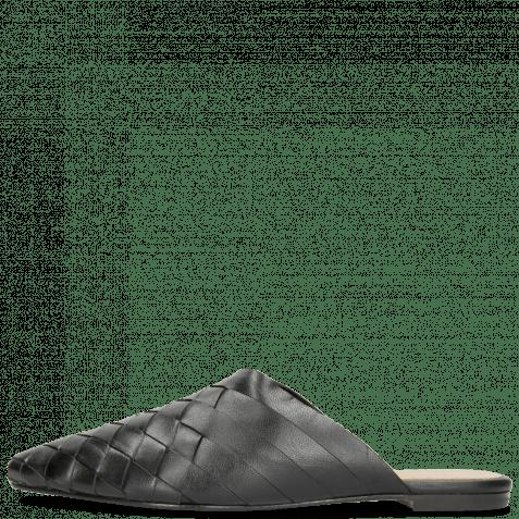Pantoletten Alexa 12 Woven Nappa Black