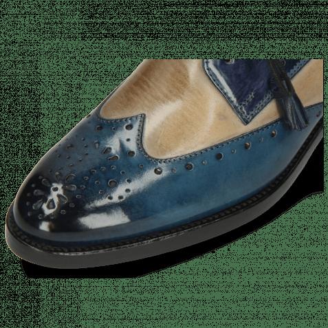 Derby Schuhe Betty 3 Ice Lake Oxygen Wind Tassel