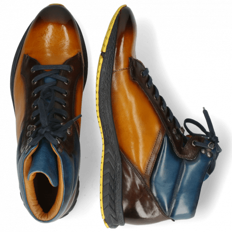 Sneakers Blair 17 Pisa Indy Yellow Mid Brown Mid Blue