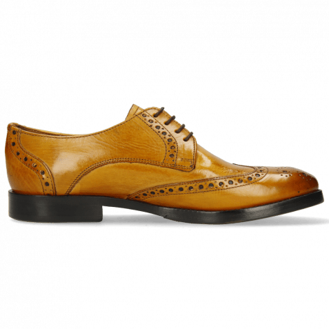 Derby Schuhe Amelie 3 Indy Yellow Lining Nappa