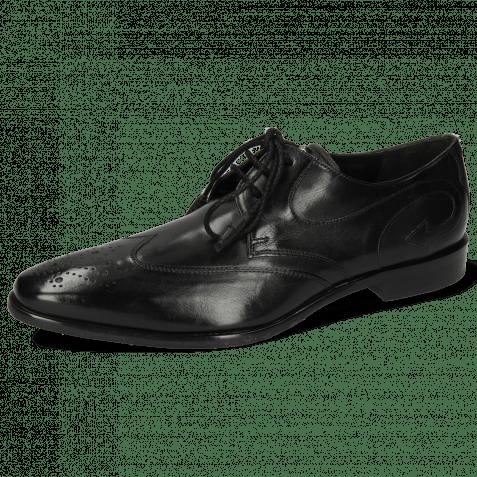 Derby Schuhe Elvis 63 Black Lining Black HRS Flex