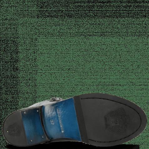 Stiefel Sally 61 Rio Black Textile Spark Rivets Welt