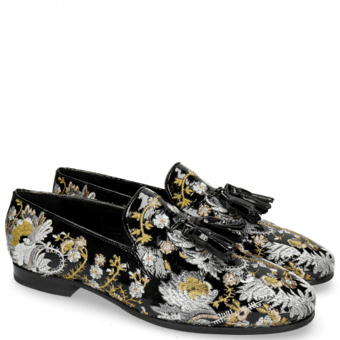 Loafers Clive 6 Soft Patent Oriental Embrodery Multi