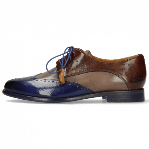 Derby Schuhe Selina 41 Midnight Stone Mid Brown