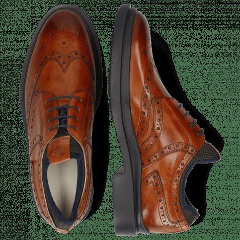 Derby Schuhe Ron 2  Tan Net Lycra