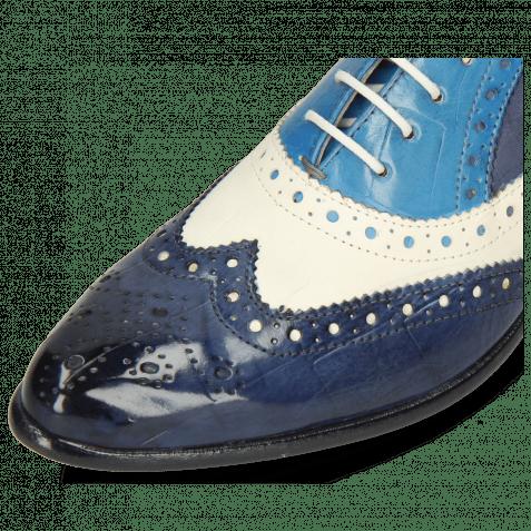Oxford Schuhe Keira 10 Imola Turtle Navy White Mid Blue Avio