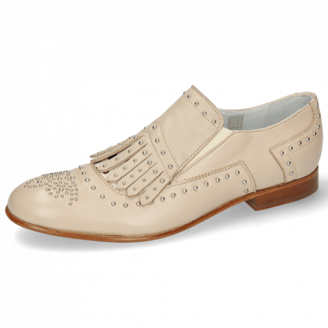 Loafers Sally 95 Nappa Glove Ivory Hairon Wildcat