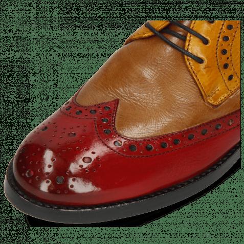 Derby Schuhe Amelie 3 Pisa Ruby Cashmere Ocra Ice Lake