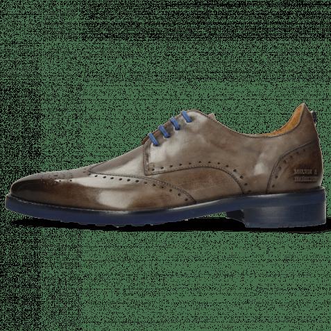 Derby Schuhe Dave 2 Monza Stone Laces Blue