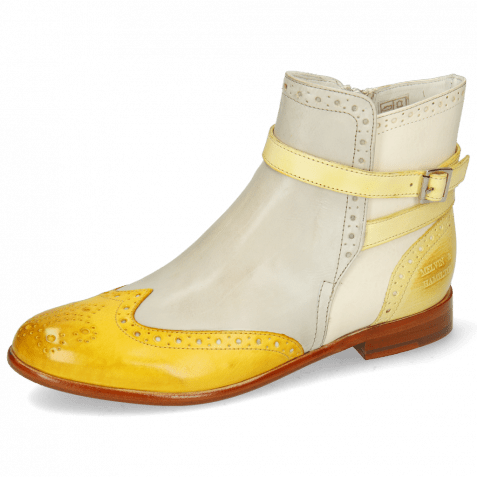 Stiefeletten Selina 25 Vegas Yellow Digital White Margarine Strap