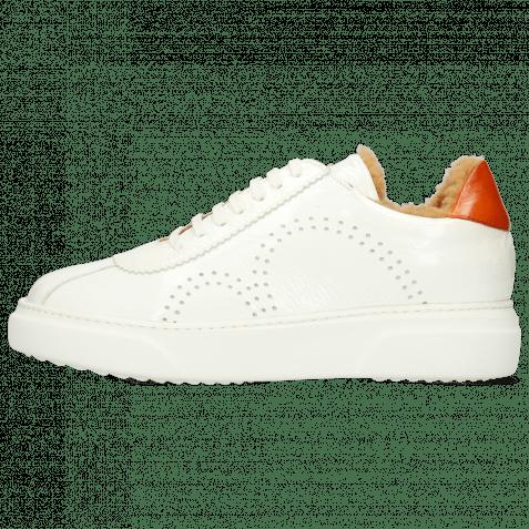 Sneakers Hailey 5 Soft Patent White Vegas Orange Sherling