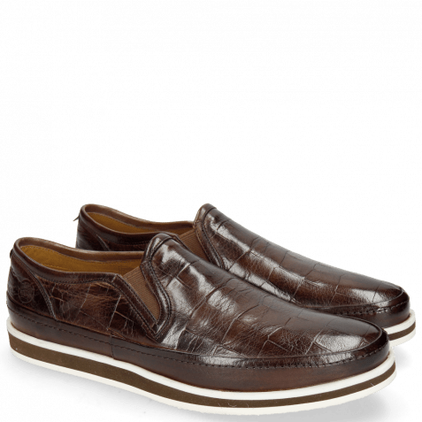Loafers Harry 2 Turtle Dark Brown Modica Off White