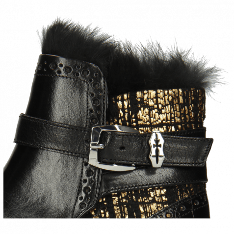 Stiefeletten Amelie 67 Crock Black Textile Tweed Black Gold