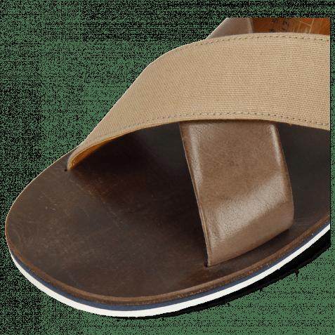 Pantoletten Sam 5 Imola Chestnut Textile Indonesia Camel