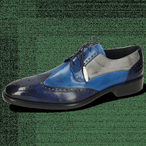 Derby Schuhe Jeff 14 Vegas Navy Mid Blue Pine Oxygen