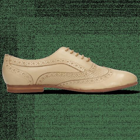 Oxford Schuhe Sonia 1 Nappa Perfo Beige