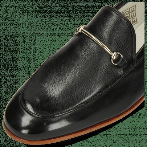 Loafers Scarlett 22 Glove Nappa Black Trim Gold