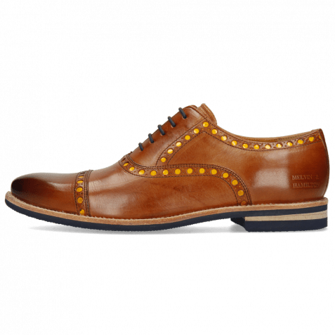 Oxford Schuhe Scott 15 Wood Underlay Patent Yellow