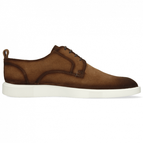 Sneakers Newton 4 Suede Pattini Tan Shade Dark Brown