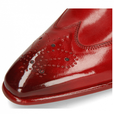 Derby Schuhe Elvis 63 Ruby Lining Red