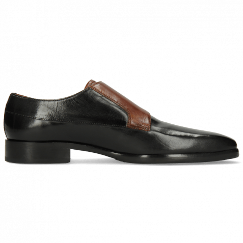 Monk Schuhe Lance 48 Black Wood Lining Nappa