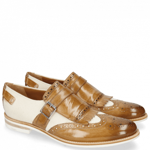 Monk Schuhe Clint 26 Sand Canvas Off White