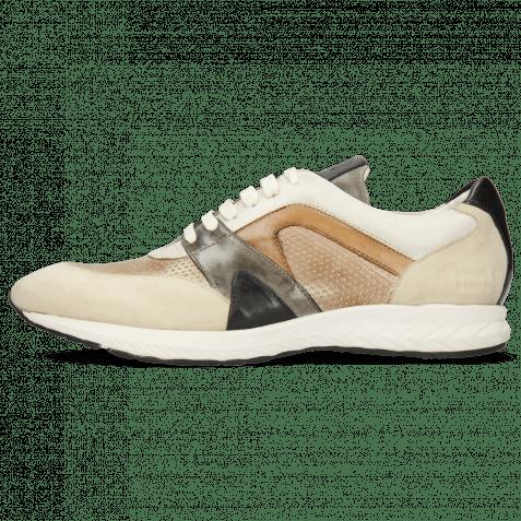Sneakers Blair 9 Kid Suede Ivory Imola Perfo Powder Nappa White