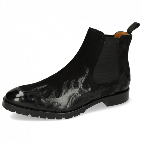 Stiefeletten Tom 29  Flame Black Suede Pattini Black