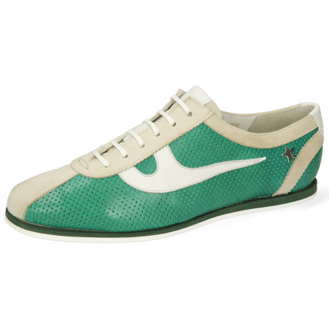 Sneakers Pearl 1 Goat Suede Ivory Imola Perfo Green House Nappa White