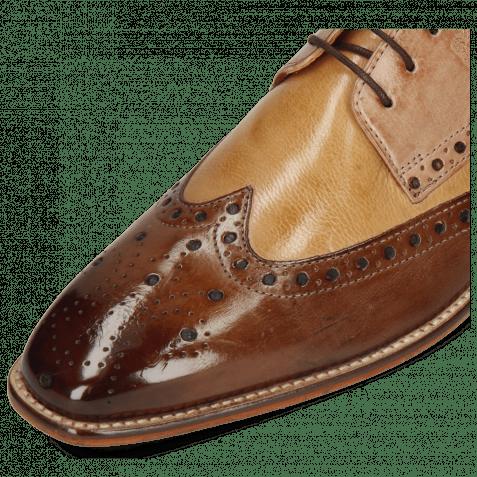Derby Schuhe Martin 15  Berlin Mid Brown Sand Make Up Cognac