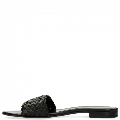 Pantoletten Hanna 26 Woven Black LS Beige