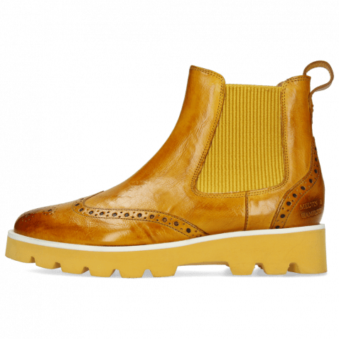 Stiefeletten Selina 29  Palermo Indy Yellow Elastic Ribbed Mustard