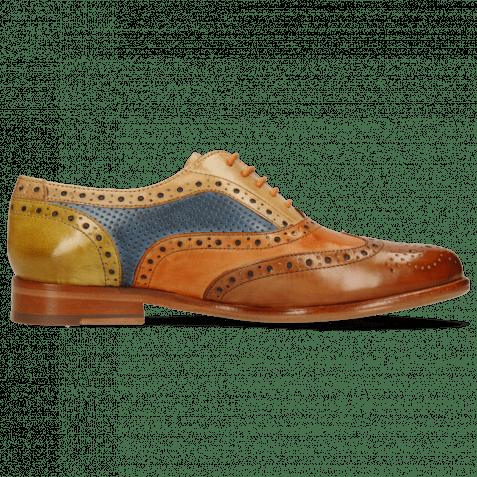 Oxford Schuhe Selina 30 Tan Arancio Sand Perfo Wind