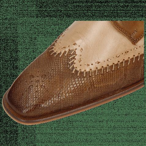 Derby Schuhe Clark 1 Venice Phython Nougat Powder Nougat
