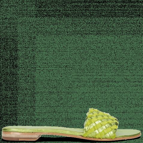 Pantoletten Hanna 26 Woven Cherso Greenery