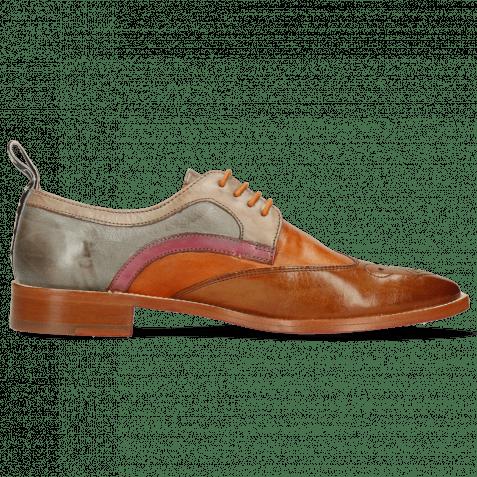 Derby Schuhe Betty 16 Pavia Tan Arancio Oxygen Lilac Satellite